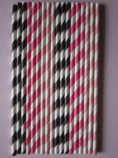 24 Pink Hot Pink & Black Vintage Retro Paper by DKDeleKtables