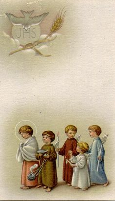 Little Angels Holy Card