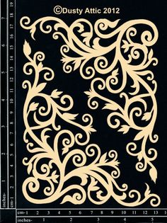 The Dusty Attic - DA0875 Corner Flourish #5