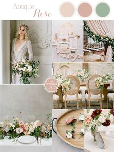 Romantic Nude Wedding Colors with Blush Flowers Wedding Color Dresses, Romantic Wedding Colors, Neutral Wedding Colors, Summer Wedding Colors, Summer Wedding Inspiration, Romantic Gifts, Wedding Color Schemes, Champagne Wedding Colors, Wedding Flowers