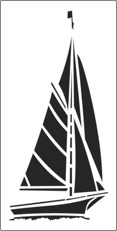 Fast sailing boat stencil to buy online Stencil Patterns, Stencil Art, Stencil Designs, Sailboat Craft, Boat Crafts, Scroll Saw Patterns, Sailing Boat, Sail Boats, Silhouette Design