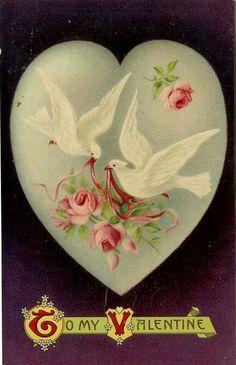 Vintage Images: Valentine's Day postcards