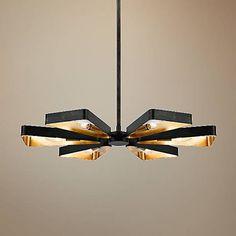 "Crystorama Luna 26 3/4""W Bronze and Gold 6-Light Pendant - #8D876 | Lamps Plus"