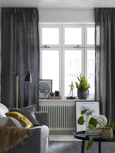 Outstanding photo pay a visit to our content article for a whole lot more tips . - - Outstanding photo pay a visit to our content article for a whole lot more tips Curtains Living, Curtains With Blinds, Grey Linen Curtains, Window Ledge Decor, Scandinavian Curtains, Custom Drapes, Living Room Designs, Decoration, House Design