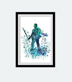 Percy Jackson art poster Percy Jackson watercolor print Home decoration Kids room wall art Nursery room decor Wall hanging art This is a print of
