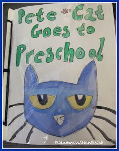 """Pete the Cat ideas - I like the class book with the kids faces on little Pete's. I can use it for the first day of school and the kids can write, """"I was ___ in my school shoes."""" and list the things they did on the first day of school."""