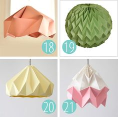 25 Paper lamp shade inspirations | What Else Michelle