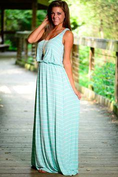 Sea La Vie Maxi Dress, mint