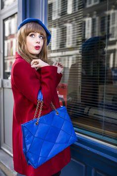 The French blogger Louise Pandora wearing a Tara Jarmon coat. #tarajarmon #red #coat