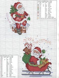 Graficos para o Natal | Рождество (вышивка крестом, схемы)