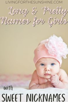 Find a beautiful name for your baby girl with a built-in nickname to match. Best long baby names with nicknames for girls Long Girl Names, Best Girl Names, Unique Girl Names, Baby Names, Nicknames For Girls, Names With Nicknames, Cute Nicknames, Traditional Girl Names, Names Starting With C
