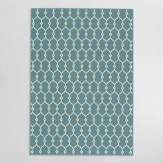 Cost Plus World Market Blue Lace Indoor Outdoor Area Rug