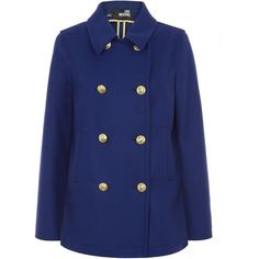 Moschino Double Breasted Peacoat found on Polyvore for >$500!  Find it at CAbi for <$160! Prep School Jacket - jackiek.cabionline.com