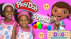 Doc McStuffins Playdoh Surprise Egg Toy and Collectible figures❤