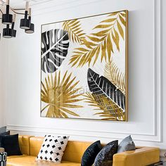 Original art modern Abstract acrylic paintings on canvas Gold leaf painting Wall pictures cuadros abstractos hand painted impasto home decor Diy Canvas Art, Acrylic Painting Canvas, Painting Abstract, Painted Leaves, Hand Painted, Wall Painting Decor, Picture Wall, Wall Art Pictures, Creations