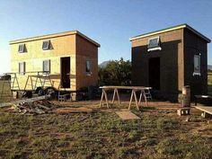 Tiny homes under construction.