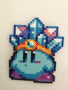 Kirby ice perler bead sprite by Brit-diepie