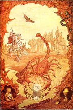Scorpio Zodiac Sign Artwork, Artist: Johfra Bosschart | #scorpio #zodiac #astrology