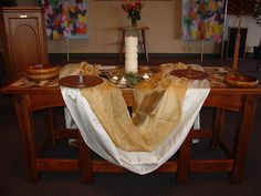 Easter communion table