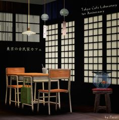 Sims 3 Download: six new meshes, inspired from a cafe in Tokyo