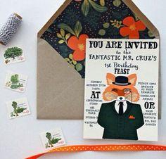Fantastic Mr Fox birthday invitations