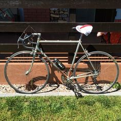 """""""Finally got to my parents house at the countryside #bicycle #motobecane"""""""