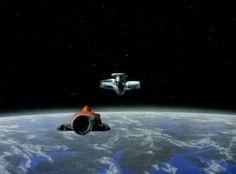 """Conflict"" Alien device approaching SHADO lunar module."