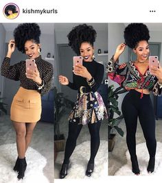 I ❤️ all 3 outfits and her hair is super cute