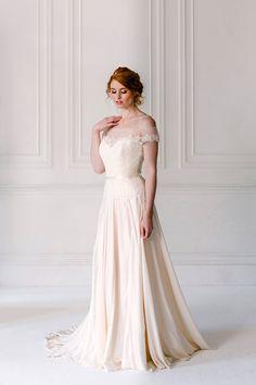 Off the shoulder wedding dress trend