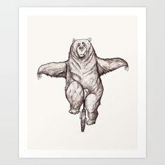 Balance Art Print by Dave Mottram | Society6