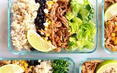 Meal Prep Carnitas Burrito Bowls | Recipe