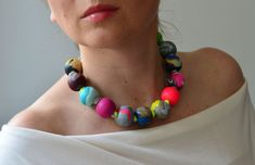 Colorful necklace/neon necklace/bright multicolored by IKKX