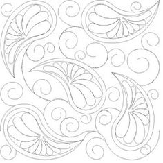 Shop | Category: Feathers, Pearls and curls | Product: Paisley and Feathers E2E simple