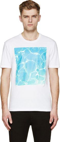 Maison Margiela White Pool Print T-Shirt