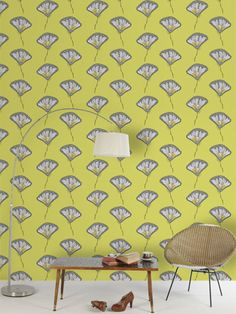 High House Wallpapers -Very excited to show you my latest creative endeavour :) -Alcalthaea Chartreuse -designed for the debut wallpaper collection by High House Wallpaper