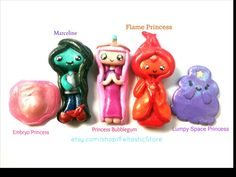 Clay figures for necklaces or key chains
