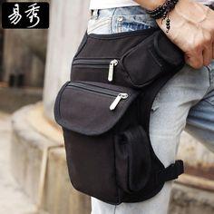 Eshow Men belt bag Canvas leg bags waist pack bag fanny pack running belt men…