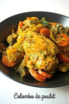 Une recette de plat épicé et délicieux, le colombo de poulet, qui vous fera voyager! A servir avec du riz ou des légumes, les deux versions sont délicieuses Plus