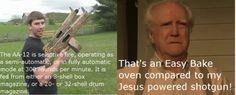 """Hershel """"Unlimited Ammo"""" Greene and his Jesus powered shotgun"""