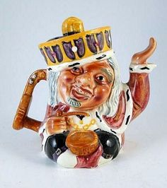 Staffordshire Old King Cole Teapot, 1930 Shorter and Son LTD England   $29.99