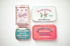 vintage candy tins