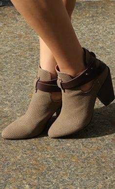 Cool booties.