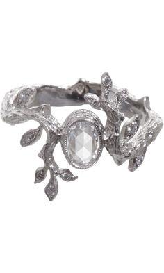 Cathy Waterman Diamond Leaf & Branch Ring