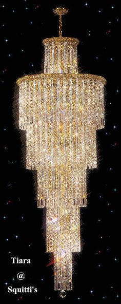 Large entry crystal chandeliers @ Squitti's A Beautiful Difference