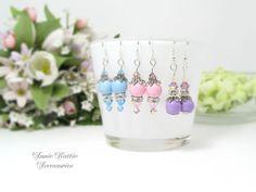 Drop earrings Dangle earrings Silver earrings by AnnieKattie Bridesmaid Earrings, Wedding Earrings, Bridesmaid Gifts, Pink Earrings, Cute Earrings, Dangle Earrings, Annie, Dangles, Etsy Shop