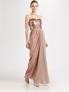 Badgley Mischka - Sequined Bodice Gown