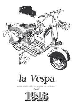 1946 / La Vespa by franck gaudin, via Behance