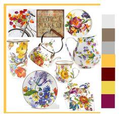 """Flower Market!"" by lheijl ❤ liked on Polyvore featuring interior, interiors, interior design, home, home decor, interior decorating, Home Decorators Collection, Ballard Designs and MacKenzie-Childs"