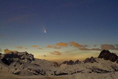Comet Pan-STARRS   Taken by Marco Migliardi on March 19, 2013 @Passo Giau (2.236 mt) - Dolomites, Italy