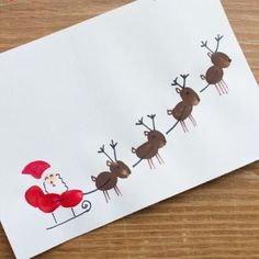 Karte-Weihnachten Carte-de-noel Wooloo Christmas card The post card-Christmas appeared first on Jasmine Lambrick. Christmas Crafts For Gifts, Christmas Wood, Simple Christmas, Kids Christmas, Christmas Decorations, Easy Toddler Crafts, Crafts For Kids To Make, Kids Crafts, Arts And Crafts